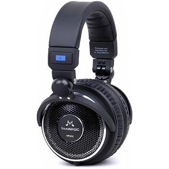 SoundMAGIC HP200 Premium Full Size Open-Back Folding Headphones (Black)