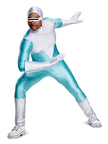 Disguise Men's Plus Size Frozone Deluxe Adult Costume, Turquoise, XXL (50-52)