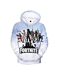 Yeawooh 3D Printing Unisex Hoodie Novelty Game Sweatshirt Pullover for Christmas