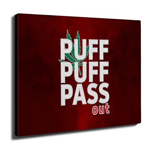 Puff Weed Marijuana Rasta Ganja Pot Wall Art Canvas 20