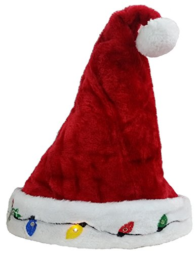 Blinking Santa Costume Hat - Funny Party Hats (Funny Cute Women Halloween Costumes)