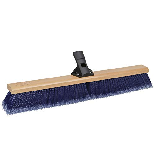 """SWOPT 24"""" Premium Multi-Surface Push Broom Head – Push Broom for Indoor and Outdoor Use – Interchangeable with Other SWOPT Products for More Efficient Cleaning and Storage, Head Only, Handle Sold Separately, 5116C4"""