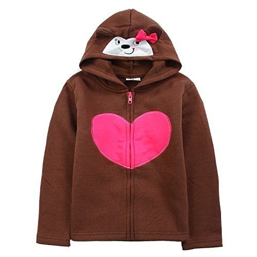 [Neighbor Girl Children's Baby Hearsweatshirts Hooded Bow 100% Cotton (2-7 Years)] (Witch Coustumes)