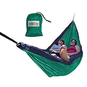 Trek Light Gear Double Hammock – The Original Brand Lightweight Nylon Hammocks – Use for All Camping, Hiking, and Outdoor Adventures