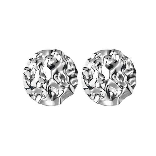 Wholesale Oversize Alloy Earrings 6 style Geometric Leave Round Drop Earrings For Women Ladies Rectangle Jewelry,Silver 06