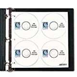 C-Line® CD/DVD Ring Binder Kit BNDR,D-RNG,2'',CD/DVD,BK (Pack of5)