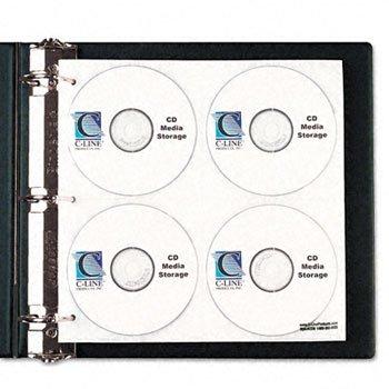 C-Line® CD/DVD Ring Binder Kit BNDR,D-RNG,2'',CD/DVD,BK (Pack of5)