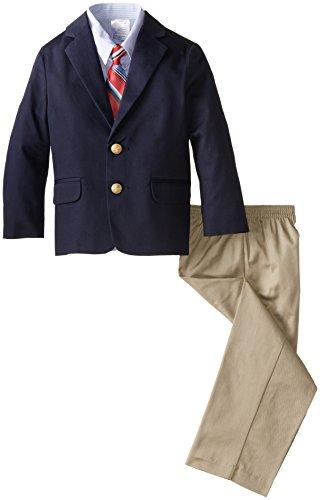 IZOD Little Boys' Twill Duo Toddler Set, Navy, 3T/3