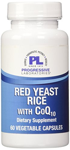 Progressive Labs Red Yeast Rice Supplement, with C0Q10, 60 Count