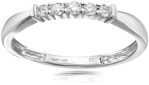 10k Gold and Diamond Five Stone Anniversary Ring (1/10cttw, I J Color, I3 Clarity)