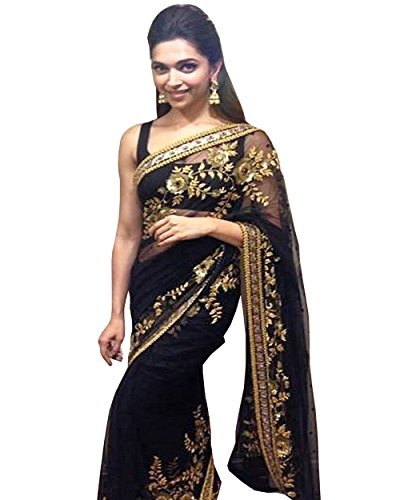 Bollywood Dipika Metal Designer Net Saree