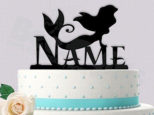Amazoncom Mermaid Birthday with Name Cake Topper Handmade