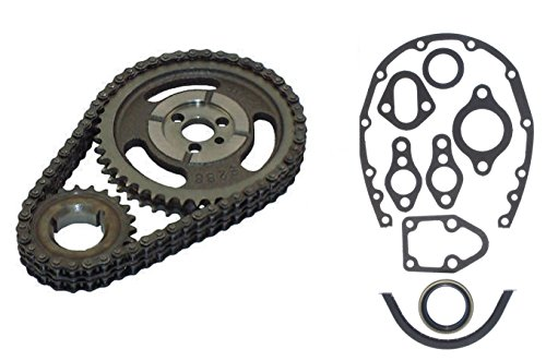 1955-1995 CLOYES GEAR PERF. ADJUSTABLE 3 KEY WAY DOUBLE ROW TIMING CHAIN SET AND TIMING COVER GASKETS SET 265 267 283 305 350 327 400