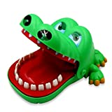 Crocodile Dentist (Big Size) - Crocodile Biting Finger Game Funny Toy Gift Funny Toys For Kids - 1 to 4 Players - Ages 3 and Up