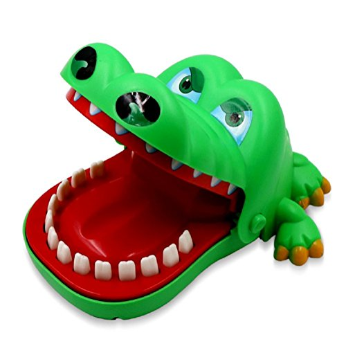 Crocodile Dentist (Big Size) - Crocodile Biting Finger Game Funny Toy Gift Funny Toys For Kids - 1 to 4 Players - Ages 3 and Up by Topways