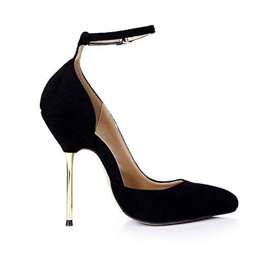 Klicken Sie auf die neuen Sinn Sinn Sinn des Reformators Frauen Nacht Abendessen punkt Frauen Schuhe schwarz satin Bügeleisen mit der high-heel Schuhe B0759KRG64 Tanzschuhe Attraktiv und langlebig 37bc03