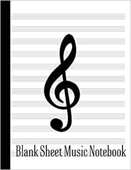 Amazon com: Blank Sheet Music Notebook: 110 Pages - 12 Stave