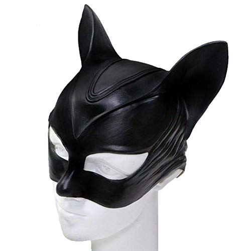 XWYWP Mascaras Halloween Mascara Cosplay Props Latex Mujeres Hombres Halloween Accesorios Sexy Lady Catwoman Mascaras style1