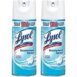 Lysol Disinfectant Spray, Crisp Linen, 25oz (2X12.5oz)