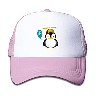 Kocvbng I Cute Penguins Boy and Girl Snapback Mesh Baseball Hat Youth Size Caps