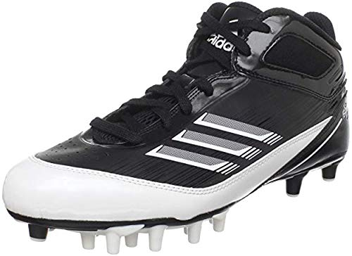 - adidas Men's Scorch X SuperFly Mid Football Cleat,Black/White/Metallic Silver,9.5 M US