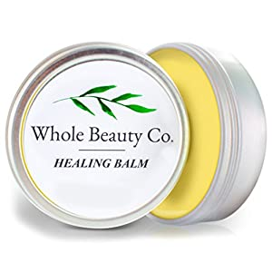 Organic Healing Balm: Best Natural Body Shea Butter Essential Oils & Lip Ointment Healing Lotion Moisturizer for Dry Cracked Skin, Eczema, Chapped Lips. Anti Aging Face Cream Made With Bees Beeswax