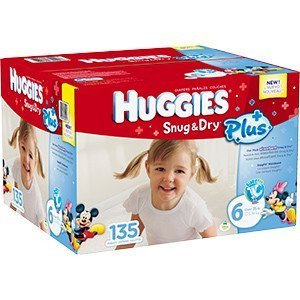 Huggies Snug & Dry Plus Diapers Size 6 - Case of 135 by HUGGIES
