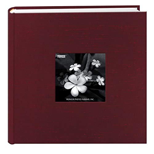 Pioneer Photo Albums 200 Pocket Cranberry Silk Fabric Frame Cover Photo Album for 4 by 6-Inch Prints (Fabric Picture Covered Frame)