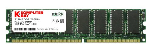 Komputerbay 512MB DDR DIMM (184 pin) 266Mhz PC 2100 Low Density 512 (Pc 2100 Ddr266 Computer Memory)