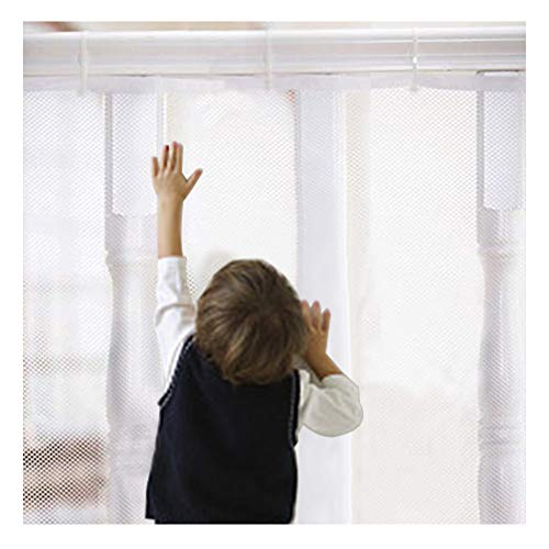 Lock Rail Guard (AORRO Safe Child Rail Net Indoor Outdoor Stairway Balcony Safety Net Kid Safe Banister Guard (White, 10 x 2.5 ft))