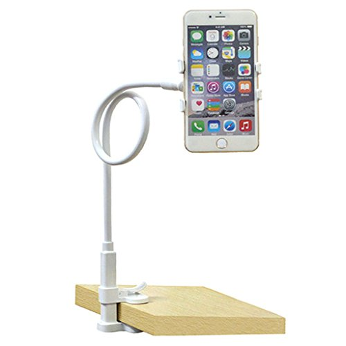 "Cell Phone Holder,Smartphone Stand Sturdy Holds Devices Up to 4"" Wide, Phone Holder for Bedroom, Kitchen, Office,..."
