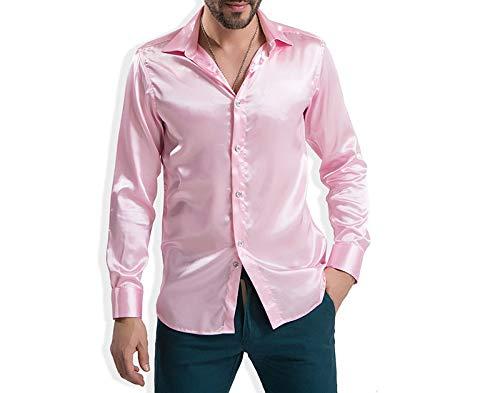 Lunghe Uomo Seta Camicia Raso Pink Di Sposo Da In Maniche Con Pragmaticv Lunga Manica qAYwx7q
