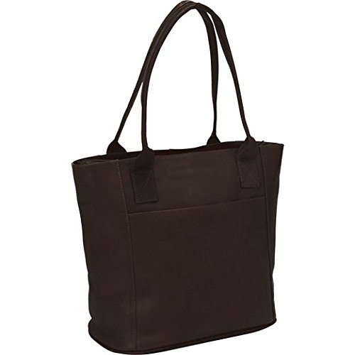 Piel Leather Small Tote Bag, Chocolate