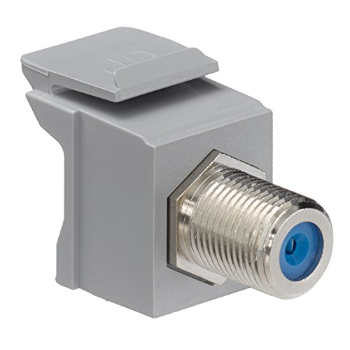 Leviton 41084-FGF QuickPort F-Type Adapter, Nickel-Plated, ()