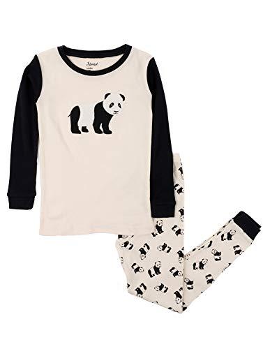 Leveret Kids & Toddler Pajamas Boys Christmas 2 Piece Pjs Set 100% Cotton (Panda, Size 8 Years)