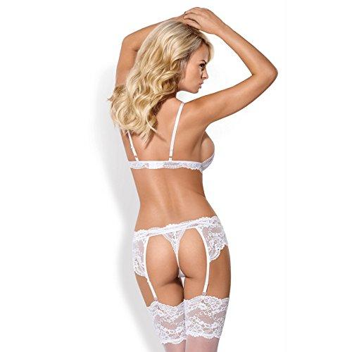 Amazon.com  Obsessive 810-SEG-2 women s lingerie set padded bra suspender  belt f1922276d