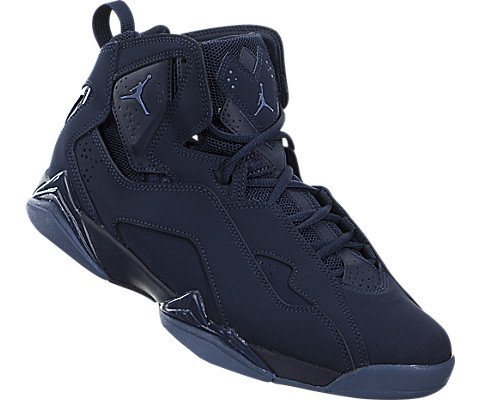 Nike Jordan Men's Jordan True Flight Basketball Shoe Obsidian/Ocean Fog 7.5 D(M) US by Jordan (Image #4)