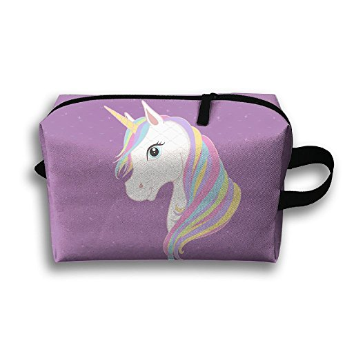 Colourful Hair Unicorn Cartoon Make-up Bag Multifunction Travel Case Brush - Replacement Sunglasses Magic Clip