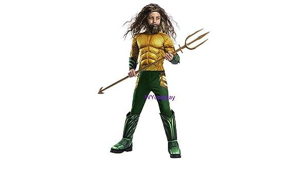 MSSJ Traje de Aquaman para niños Traje de Cosplay de músculo ...