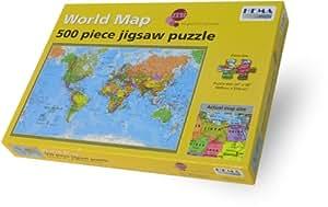 Amazon maps international world 500 piece puzzle maps jigsaw puzzles gumiabroncs Images
