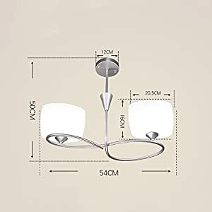 Pendant lights Modern Minimalist Restaurant Chandeliers, Bedroom Creative Chandeliers Wrought Iron Lamps ( Color : B )