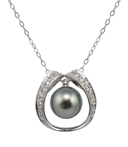 Tahitian Cultured Pearl Sterling Silver Pendant ()