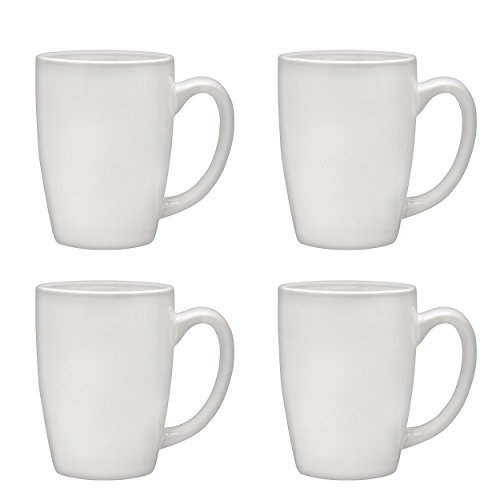 Culver Taza Ceramic Mug 16-Ounce Set of 4 (Large China Coffee Mug)