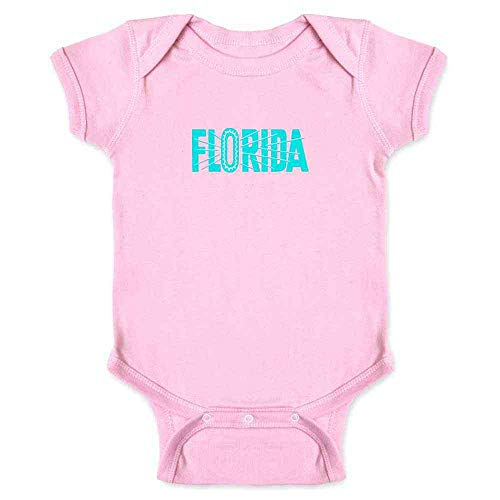 Florida State Retro Vintage Travel Pink 24M Infant ()