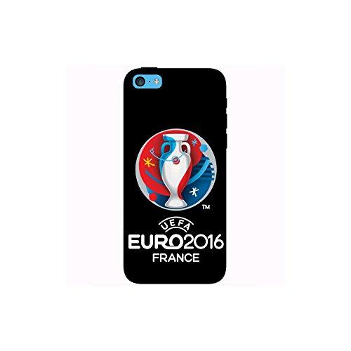 Coque Apple Iphone 5c - UEFA Euro 2016 Noire