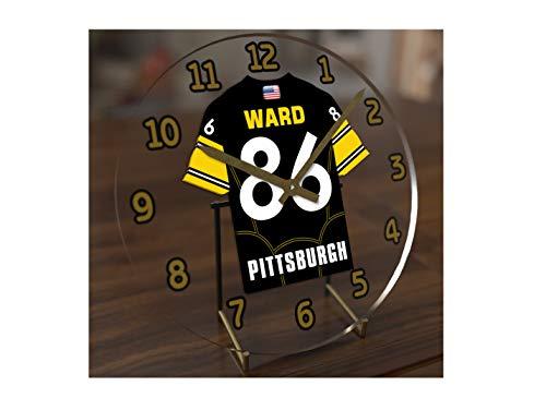 FanPlastic Hines Ward 86 Pittsburgh Steelers Desktop Clock - National Football League Legends Edition !!