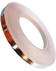 Kenfun 1 st kopparfolietejp koppartejp snigel och snigelavvisande, EMI-skärmning, koppartejp för färgat glas, ledande lim för elektriska reparationer