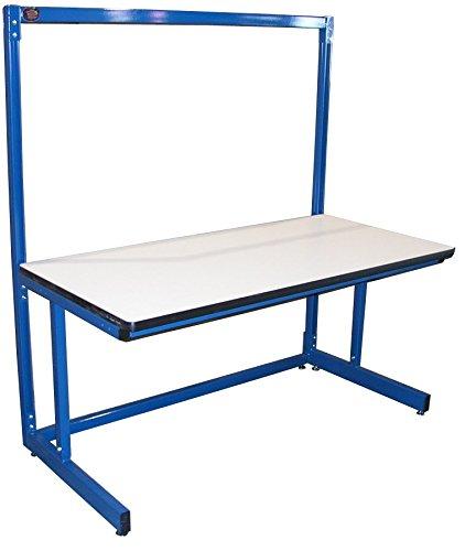 (Pro-Line B6030SSPL Basics Model Single Sided Starter Workbench, Plastic Laminate, Circuit Blue)