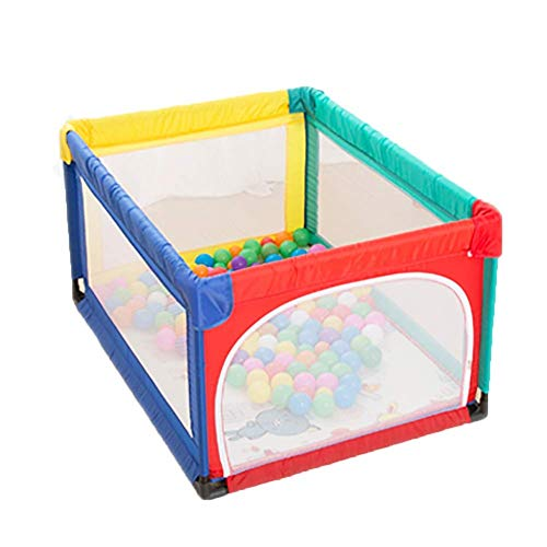 Playpens Baby Toddler palyard with playmat, Indoor Outdoor Kids Safety Ball Pool playguard - Multi-Colored (Size : ()