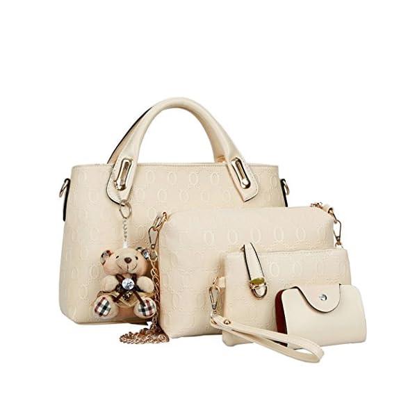 Coofit Borse Donna PU in Pelle Borsa a Tracolla Tote Bag Borse a ... 4d5ed42548d